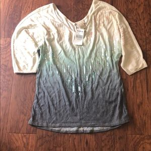 NWT Daytrip ombré shirt with sequins